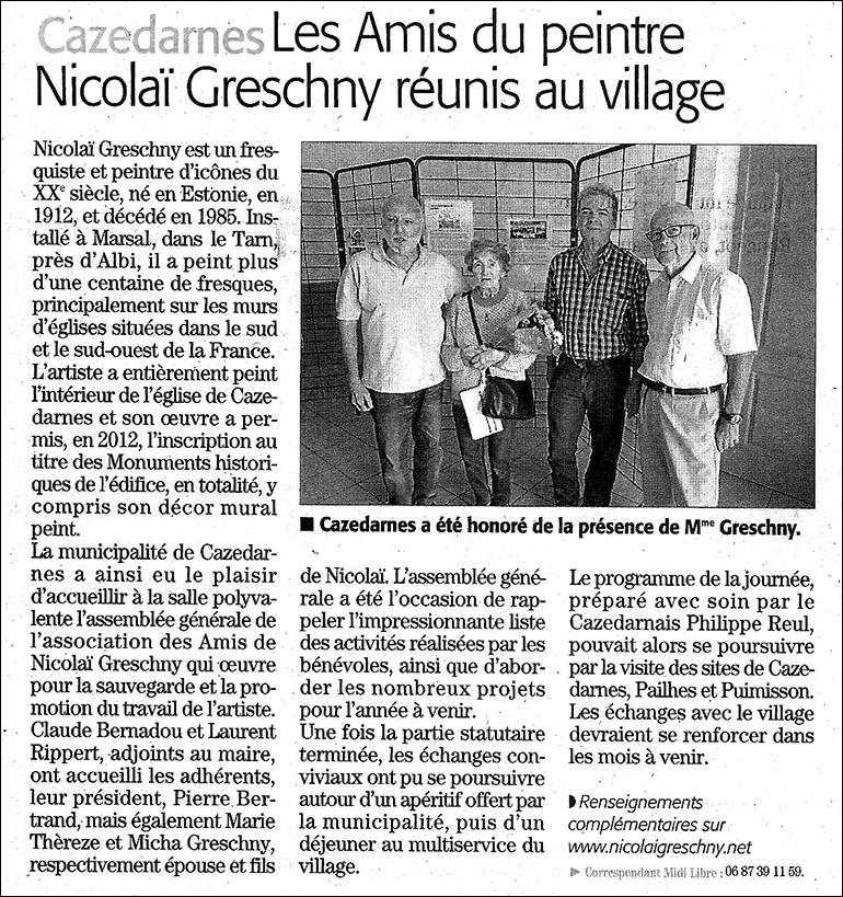AG Cazedarnes Midi Libre